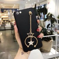 star Hanging chain Soft Skin Back Cover TPU Silicone Case For huawei P10 Plus Mate8 Mate9 Pro P9Lite P8Lite 2017 Nove