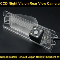 Huifei Waterproof 4 LED Rear view Camera BackUp Reverse Parking Camera for Nissan