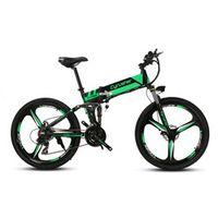 Cyrusher XF700 Unisex Folding Electric Bike Mountain Full Suspension 36V 21 Speeds