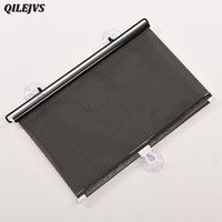 QILEJVS Styling Black 58 x125cm Car Auto Window Roll Blind Sunshade Windshield Sun
