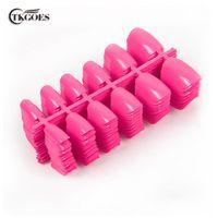TKGOES 600 PCS Acrylic Fake Nails Color Pink Full Cover False Nail Art Tips