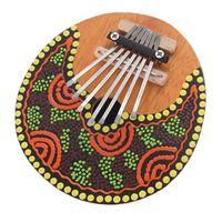 KOKKO Kalimba Thumb Piano 7 Keys Tunable Coconut Shell Painted Musical Instrument