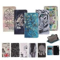 "Colourful Painted Phone Case For Motorola Moto G5Plus 5.2"" Wallet Stand Flip"