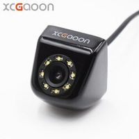 XCGaoon CCD Car Rear View Camera Real Waterproof IP67 Wide Angle 8 LED Lights