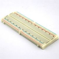 1pc J324 Breadboard 830 Bread Board Standard Dupont Line Faceplate with Double Side tape DIY Circuit Making Free Shipping Russia