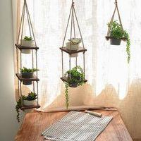Adeeing Creative Suspend Macrame Plant Hanging Basket