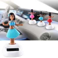 vvcesidot Solar Energy Swinging Head Automotive Interior Accessories Doll Ornaments