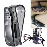 CDIY 1PC Car Accessories ABS Vehicle Sun Visor Sunglasses Eyeglasses Ticket Car Holder Clip Auto Fastener Clips Black Hot Sale