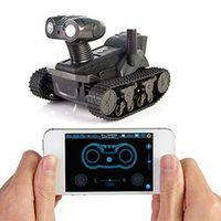 LT-728 4-CH Wi-Fi Android/iOS Remote Control All-terrain Instant Display Tank w/ 300KP Camera & LED Light