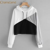 Chamsgend Newly Design Women Casual Long Sleeve Hoodie