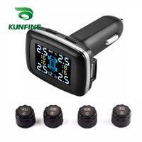 KUNFINE Smart Car TPMS Tire Pressure Monitoring System cigarette lighter Digital