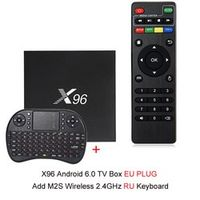 X96 Android 7.1 Smart TV Box 4K x 2K Full HD Amlogic S905X 1G/8G 2G/16G 2.4GHz WiFi