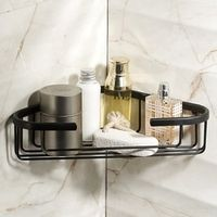 2016  Bathroom Accessories,Wall Mounted Strong Brass Antique Black Finish Shower Shelf &Shower Basket/Fashion Black Shelf