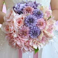 SSYFashion bride holding wedding bouquets photography sweet