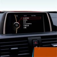 DoColors Stainless steel navigation frame cover trim dashboard LCD screen box