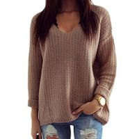 feitong Womens Pullover Korean Style Oversized Sweaters