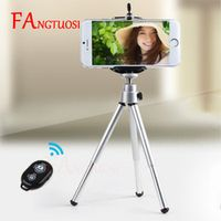 FANGTUOSI Mini Tripod With Phone Holder Bluetooth Remote For Iphone x 8 7 6s PLUS
