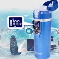 BOGU Winter Car Electric Mug 12V Auto Thermal Travel Thermos Bottle Heating Cup