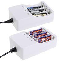 1.2V Universal Intelligent 3-Slot AA/AAA Ni-MH Ni-Cd Battery Charger USB Plug
