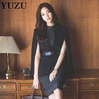 YUZU Women Blazer 2 Piece Set In Office Knee-Length Dress