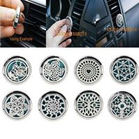 wupp Stainless steel perfume clip Car Air Vent Freshener Aromatherapy