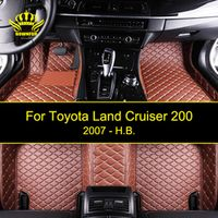 ROWNFUR Car Floor Mats For Toyota Land Cruiser 200 Series Artificial Leather