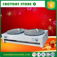 Double Head Electric commercial crepe maker pancake making equipment machine 220V