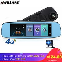 AWESAFE A880 Car Remote Monitor Mirror 4G Android 5.1 DVR Cameras with GPS 1080P Dual