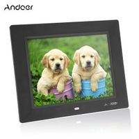 Andoer 8'' Ultrathin HD TFT-LCD Photo Frame Alarm Clock MP3 MP4 Movie Player digital