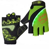 MOREOK Cheap price outdoor sports short finger led light bike cycling gloves