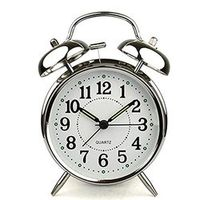 Adeeing 4 inch Alarm Clock With Loud Quartz Stainless Metal