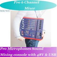 MICWL Pro Live Studio Microphone Mixing Console Mixer 48V USB - Ideal stage solutions