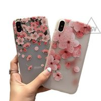 EA PHUNDAS 3D Flower Emboss Case For iPhone 7 6 6s 8 Plus 6 Case For iPhone 7 x