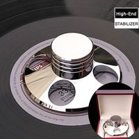 BINYEAE Deluxe Silver LP Vinyl Turntables Metal Disc Stabilizer Record Weight/Clamp