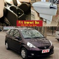 WOKAFU For Honda Fit Jazz hatchback armrest central Store content Storage box