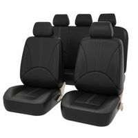 ROWNFUR car seat covers Pu leather material made by Black universal