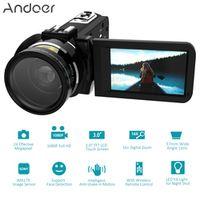"Andoer HDV-Z20 Digital Video Camera Full HD 1080P 24MP WiFi 3.0"" Touch screen 16x"