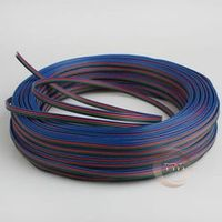 1m 2m 3m 5m 10m 20m 22AWG, 4 pin RGB cable, PVC insulated wire, Electric cable, LED cable, Free to choose the number of meters