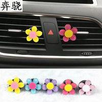 Beautiful car styling decoration car air freshener 100 Original Lady colorful Flower