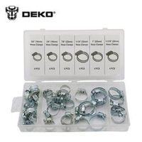 DEKO 2016 NEW Hot Sale 34pcs Stainless Steel Mini Jubilee Fuel Hose Clamps Pipe Clips