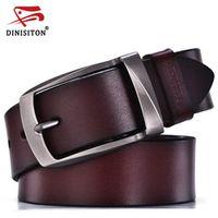 DINISITON designer belts men high quality genuine leather belt man fashion strap male cowhide belts for men jeans cow leather