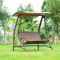 2 seats durable iron garden swing chair comfortable hammock