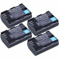 4Pcs Probty LP-E6 LP E6 LP-E6N Battery for Canon EOS 5D Mark II 5DS R 6D Camera