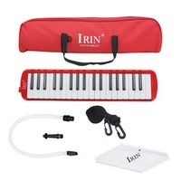 IRIN Red style Woodnote Brand - Great 37 Key Black Melodica Deluxe Carrying Case