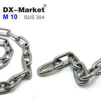 10mm chain, sus304 welded chain , stainless steel long-link chains , high quality lifting Chain