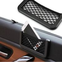 Phone Holder Pocket Organizer Auto Car Black Storage Net String Pouch Bag GPS