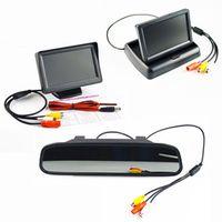 Viecar LCD Car Monitor 4.3 Inch TFT Display Desktop Foldable / Mirror 4.3'' Video