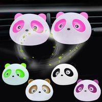CAR-partment 2Pcs/Set Panda Style Car Jump Air Conditioning Outlet Car-styling