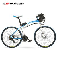 LANKELEISI GP 26 Inches Electric Quick-Folding Mountain Bike 48V 12Ah Battery 240W