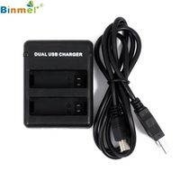 Binmer Hot-sale USB Battery Charger Gifts Dual Battery Charging Sports Camera
